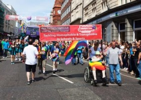 Stock Photo of Gay Pride in Brighton with Thanks to Teerinvata / Shutterstock.com