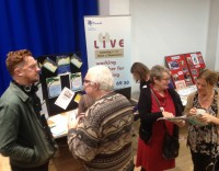 Attendees meet engagement organisations in the showcase marketplace.